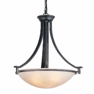 Golden Lighting 6262-3P DNI Hampden - Three Light Bowl Pendant