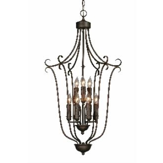 Golden Lighting 6427-9 RBZ Caged Foyer
