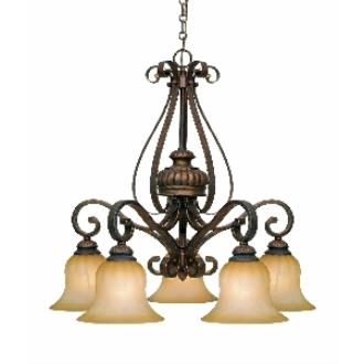 Golden Lighting 7116-D5 LC 5 Light Nook Chandelier