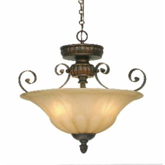 Golden Lighting 7116-SF LC Convertible Semi-Flush