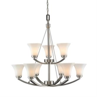 Golden Lighting 7158-9 PW-OP Accurian - Nine Light 2-Tier Chandelier