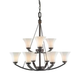 Golden Lighting 7158-9 RBZ-OP Accurian - Nine Light 2-Tier Chandelier