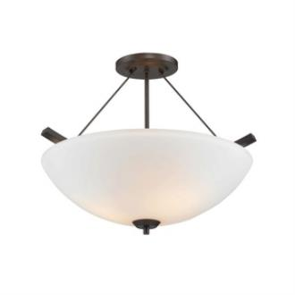Golden Lighting 7158-SF RBZ-OP Accurian - Three Light Convertible Semi-Flush Mount