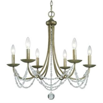 Golden Lighting 7644-6 GA Mirabella - Six Light Chandelier