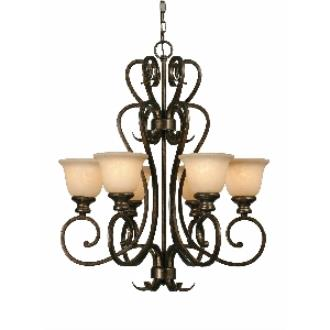 Golden Lighting 8063-6 BUS 6 Light Chandelier