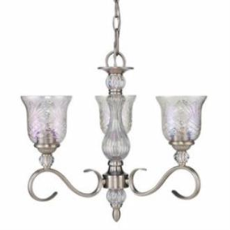 Golden Lighting 8118-M3 PW Alston Place - Three Light Mini Chandelier