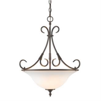 Golden Lighting 8606-3P RBZ-OP Homestead - Three Light Bowl Pendant