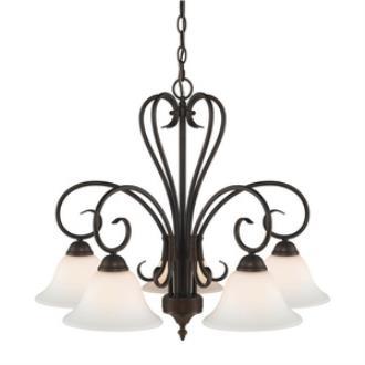 Golden Lighting 8606-D5 RBZ-OP Homestead - Five Light Nook Chandelier