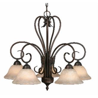 Golden Lighting 8606-D5 RBZ 5 Light Nook Chandelier