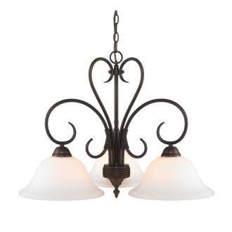 Golden Lighting 8606-ND3 RBZ-OP Homestead - Three Light Nook Chandelier