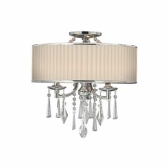 Golden Lighting 8981-SF BRI Echelon - Three Light Semi-Flush Mount