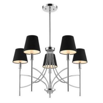 Golden Lighting 9106-5 CH-GRM Taylor - Five Light Chandelier