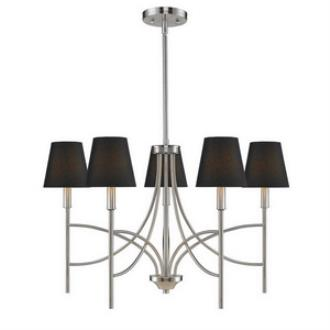 Golden Lighting 9106-5 PW-GRM Taylor - Five Light Chandelier