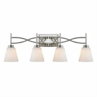 Golden Lighting 9106-BA4 PW Taylor - Four Light Bath Vanity