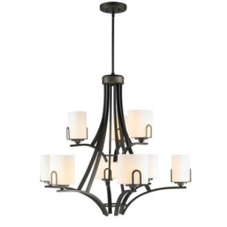 Golden Lighting 9363-9 GMT-OP Presilla - Nine Light 2-Tier Chandelier