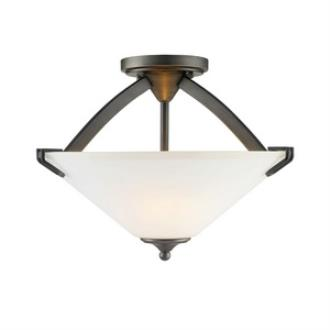 Golden Lighting 9363-SF GMT-OP Presilla - Three Light Convertible Semi-Flush Mount