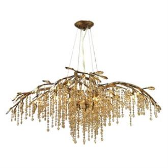 Golden Lighting 9903-12 MG Autumn Twilight - Twelve Light Chandelier