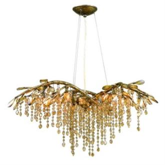 Golden Lighting 9903-6 MG Autumn Twilight - Six Light Chandelier