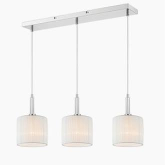Iberlamp C177-L3-CH-WH Solal - Three Light Linear Pendant
