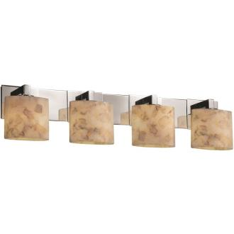 Justice Design ALR-8924 Alabaster Rocks - Four Light Modular Bath Bar