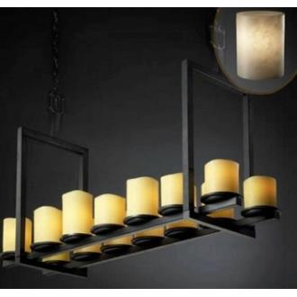 Justice Design CLD-8769 Dakota 14-Light Bridge Chandelier (Short)