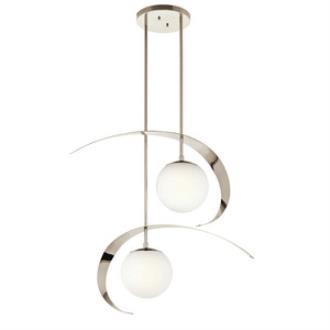 Kichler Lighting 42037PN Escala - Two Light Chandelier