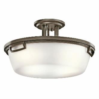 Kichler Lighting 42433SWZ Leeds - Three Light Semi-Flush Mount