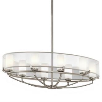 Kichler Lighting 42922CLP Saldana - Eight Light Oval Chandelier