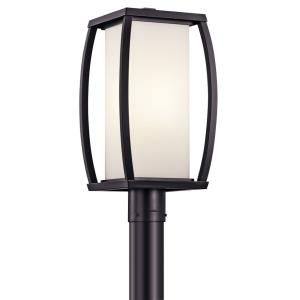 Outdoor contemporary post lights outdoor post lighting 1stoplighting bowen one light outdoor post mount aloadofball Images