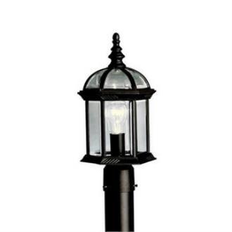 Kichler Lighting 9935BK New Street - One Light Outdoor Post Mount