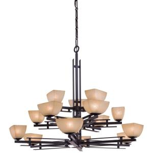 Chandelier lighting mission style lights lineage sixteen light chandelier aloadofball Image collections