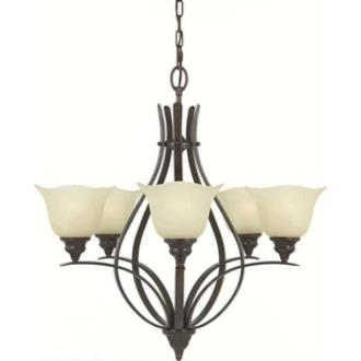 Feiss F2055/5GBZ Morningside - Five Light Chandelier