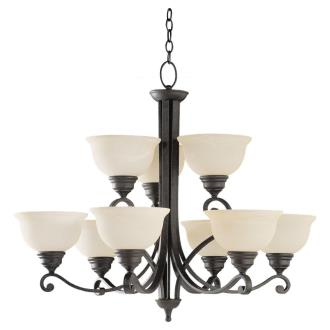 Sea Gull Lighting 31192-07 Nine-Light Serenity Chandelier