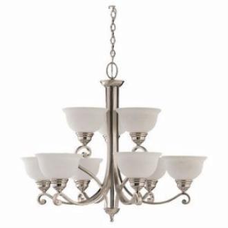 Sea Gull Lighting 31192-962 Nine-Light Serenity Chandelier