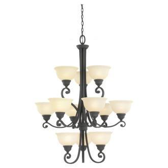 Sea Gull Lighting 31193-07 Twelve-Light Serenity Chandelier