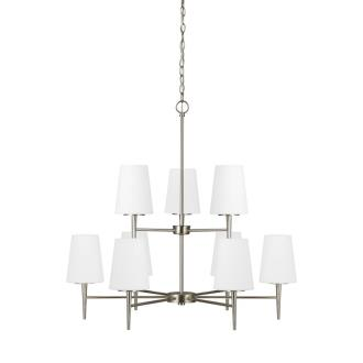 Sea Gull Lighting 3140409-962 Driscoll - Nine Light Chandelier