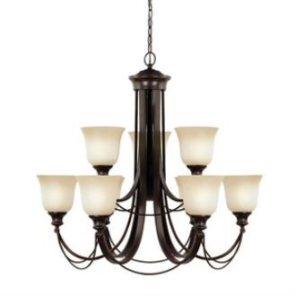 Sea Gull Lighting 31498BLE-710 Park West - Nine Light Chandelier