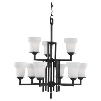Sea Gull Lighting 31633 Cardwell - Nine Light Chandelier