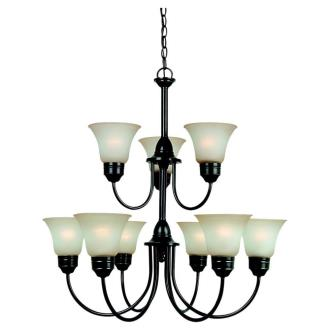 Sea Gull Lighting 31852BLE Gladstone - Nine Light Chandelier