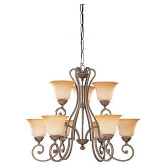 Sea Gull Lighting 39033BLE-71 Nine-light Brandywine Chandelier
