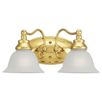 Sea Gull Lighting 44651-02 Two Light Polished Brass Wall Sco
