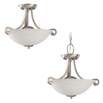 Sea Gull Lighting 51190-962 Two-Light Serenity Semi-Flush Convertable