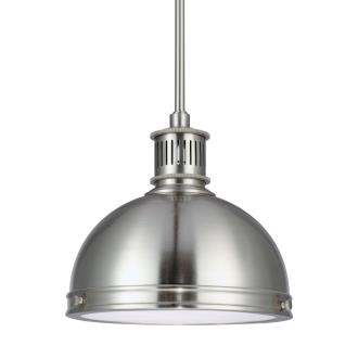 "Sea Gull Lighting 65085BLE-962 Pratt Street - 9.5"" One Light Pendant with Bulb Included"