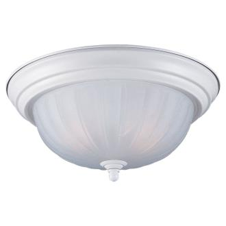 Sea Gull Lighting 7505-15 White Close To Ceiling