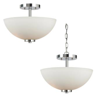 Sea Gull Lighting 77160BLE-05 Oslo - Two Light Semi-Flush Mount