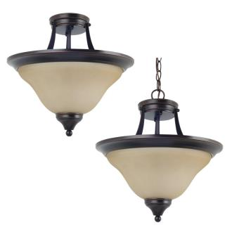 Sea Gull Lighting 77174BLE-710 Brockton - Two Light Convertible Semi-Flush Mount
