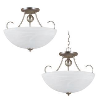 Sea Gull Lighting 77316BLE-965 Lemont - Three Light Convertible Semi-Flush Mount
