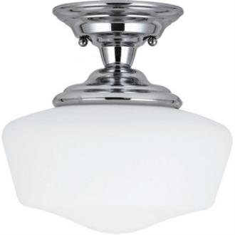 Sea Gull Lighting 77436BLE-05 Academy - One Light Semi-Flush Mount