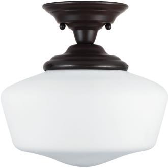 Sea Gull Lighting 77436BLE-782 Academy - One Light Semi-Flush Mount