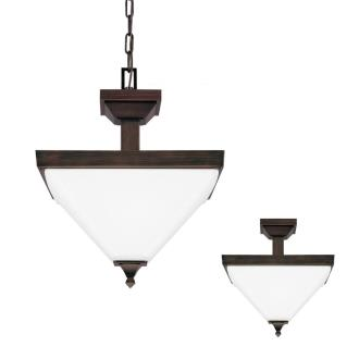 Sea Gull Lighting 7750402-710 Denhelm - Two Light Convertible Pendant